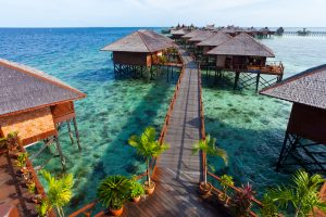 water Bungalow in Malasia