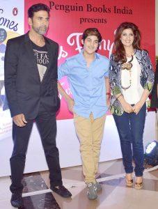 Akshay Kumar, Aarav and twinkle khanna