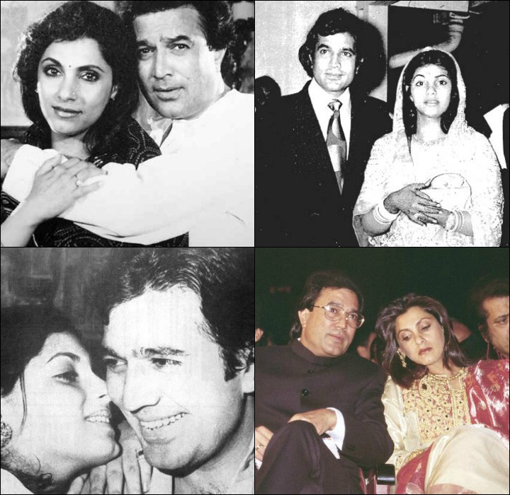 Lovely couple Rajesh Khanna and his wife