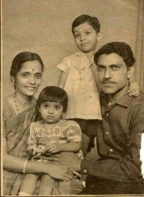 Amrish Puri with his family