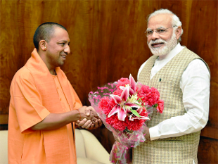 narendra modi with yogi